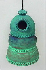 Hand Crafted Terra Cotta Birdhouse-3 Fab Colors