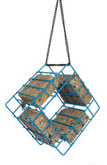 Suet Quad Bird Feeder-Aqua