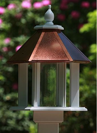 Azalea Vinyl Gazebo Bird Feeder