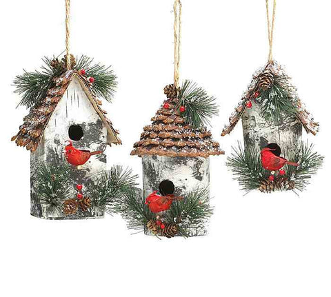 large birdhouse ornaments - Bird House Christmas Decoration