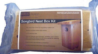 Songbird Nest Box-Birdhouse Kit by BirdsChoice