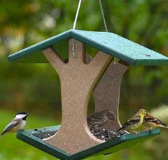 Recycled Hanging Fly-Thru Feeder by BirdsChoice