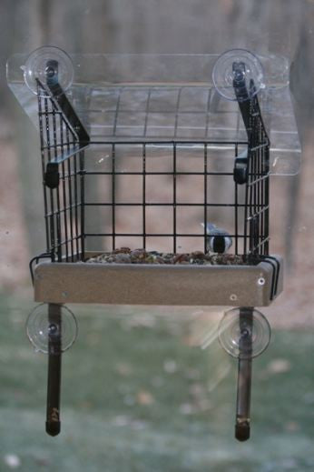 Caged Platform Window Feeder by BirdsChoice