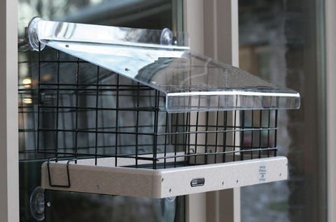 Large Caged Platform Window Feeder