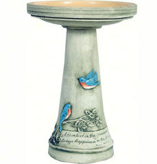 Bluebird Pedestal Birdbath with Locking Top