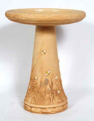 Garden Bee Birdbath-Locking Top and Bee Skep