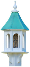 Gazebo Copper Roof Bird Feeder-Post-Mount
