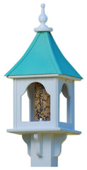 Gazebo Copper Roof Bird Feeder-Post Mount