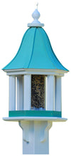 Copper Roof Bird Feeder-Vinyl Gazebo Style Post Mounted