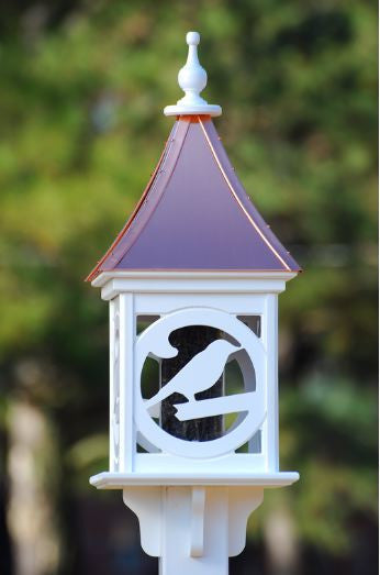 Copper Roof Bird Feeder in Vinyl/PVC