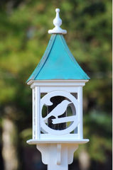 Copper Roof Bird Feeder in Vinyl/PVC with Bird Design
