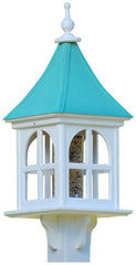 Copper Roof Bird Feeder-Architectural Post-Mount