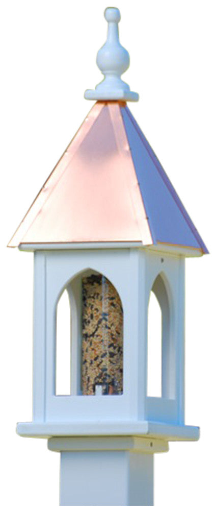 Copper Roof Bird Feeder In Vinyl Pvc 8 Quot Square Fits 4x4