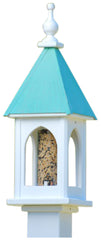 Gazebo Copper Roof Bird Feeder-Vinyl/PVC