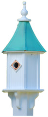Copper Roof & Vinyl Bluebird Birdhouse with Single Portal