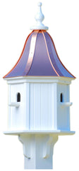 Copper Roof Birdhouse in PVC/Vinyl with 3 Compartments