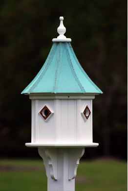Copper Roof Birdhouse 34x14 Slope with 4 Portals