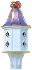 Copper and Vinyl Dovecote Birdhouse with Copper Ribbon Detail and 8 Portals