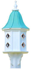 Copper Roof Dovecote Birdhouse in Vinyl/PVC with 8 compartments