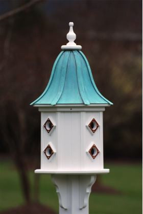 Large Copper Roof Dovecote Birdhouse in PVC/Vinyl
