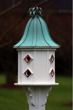 Copper Dovecote Birdhouse in PVC, 36-inch with 8 Entries