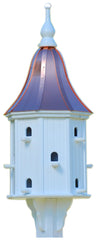 Dovecote Birdhouse in Copper and PVC, 42x16 with 12 Nests
