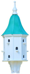 Lagre Copper Roof-Vinyl Dovecote Birdhouse with 12 Entries
