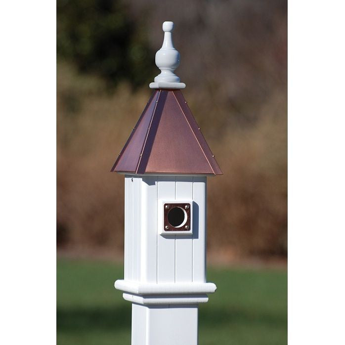 Copper Roof Bluebird Houses In Durable Vinyl Pvc The