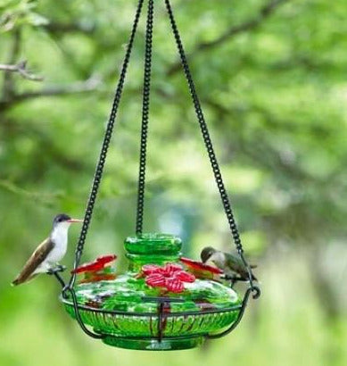 Bloom Perch Hand Made Hummingbird Feeder