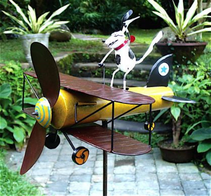 Aviator Spike the Dog Whirligig w/Pole