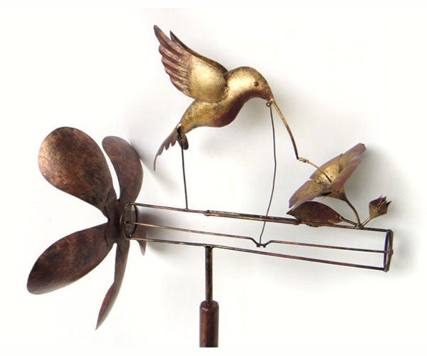 Hummingbird Whirligig with Pole