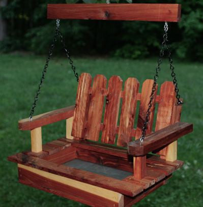 Big Porch Swing Feeder-Handcrafted Cedar