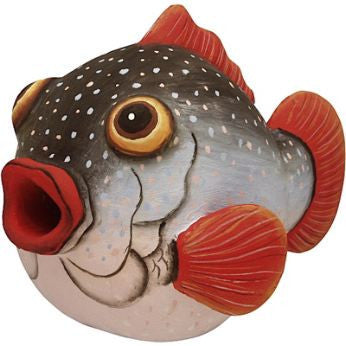 Puffer Fish Wooden Birdhouse