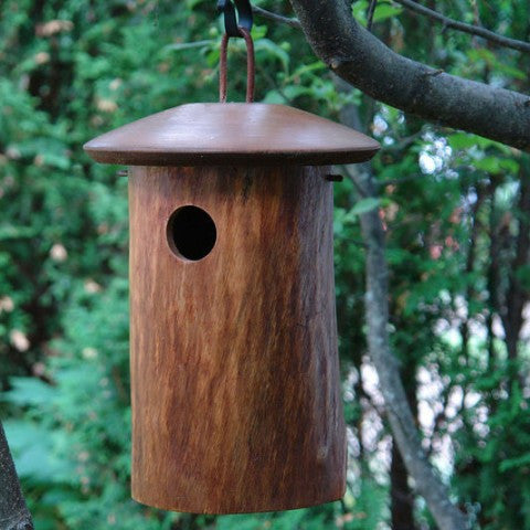 Handcrafted Natural Bluebird House