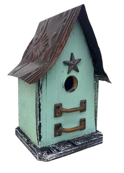 Barn Wood Tin Birdhouses Rustic Birdhouse Unique Bird