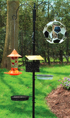 Bird Feeder Pole System In Use