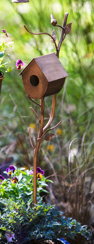 Enchanted Birdhouse Garden Stake