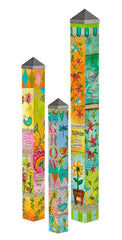Blessed Nest Vinyl Garden Art Poles