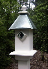 Vinyl Bluebird House-Verdegris Roof