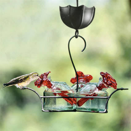 Unique hummingbird feeders ceramic and glass hummingbird feeder bouquet classic hummingbird feeder mozeypictures Choice Image