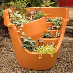 Large Broken Pot Planter