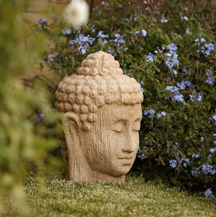 Large Stone Buddha Head Statuary
