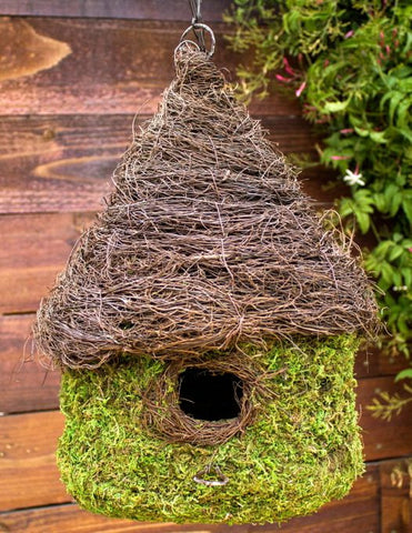 Natural Woven Birdhouse- Medium