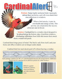 Cardinal Alert Decals-Birds Attacking Windows