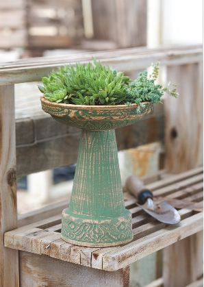 Classic Mini Bird Bath and Planter by Burley Clay