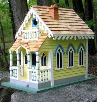 Victorian cottage birdhouse victorian birdhouses home for Victorian cottages kit homes