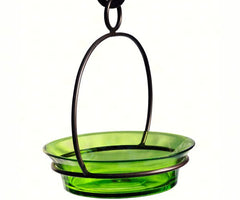 Green Feeder and Bird Bath-Metal Hanger