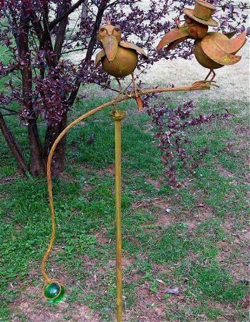Two Old Crows Kinetic Garden Stake