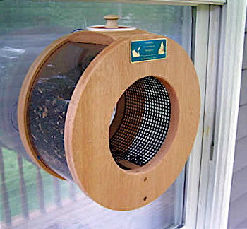 Port Hole Window Bird Feeder Unique Window Feeders Handmade Bird