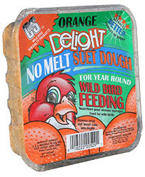 No Melt Orange Dough Suet Cake